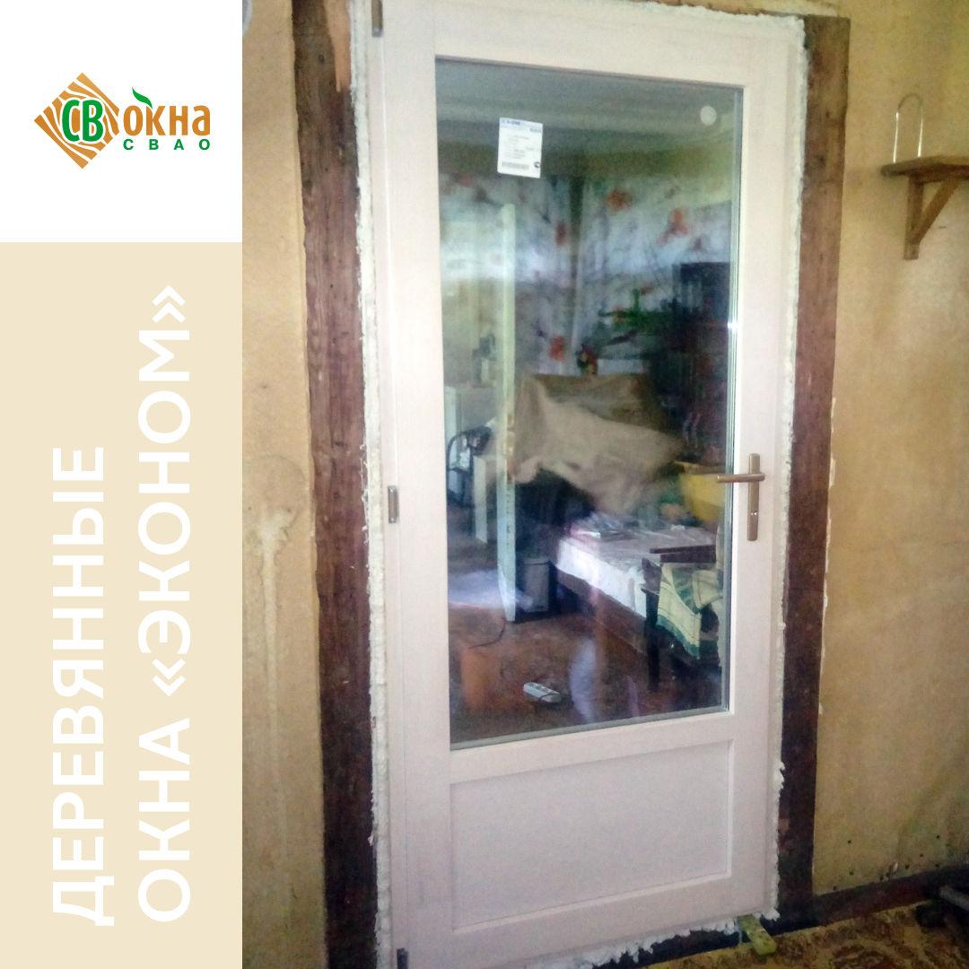Деревянные окна ОСВ «Эконом» в деревянном доме.