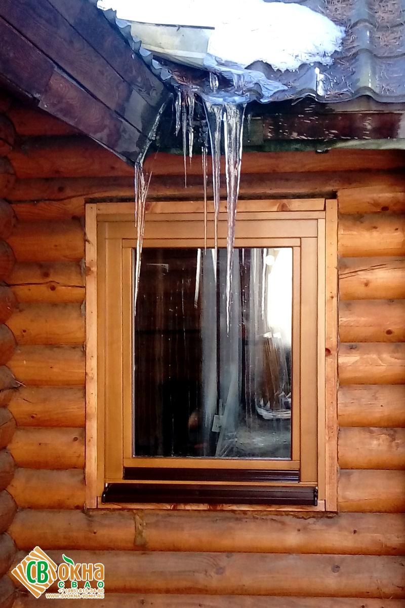 Окна из лиственницы в баню в Мытищинском районе