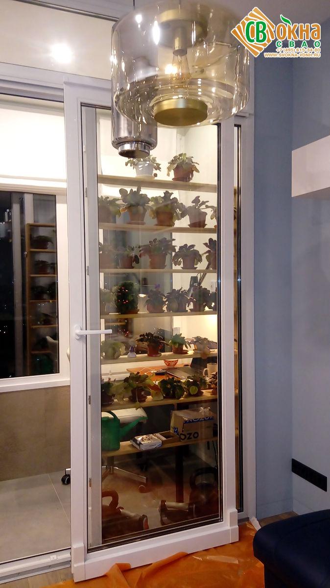 Раздвижная портальная балконная дверь REHAU Thermo в Алексеевском