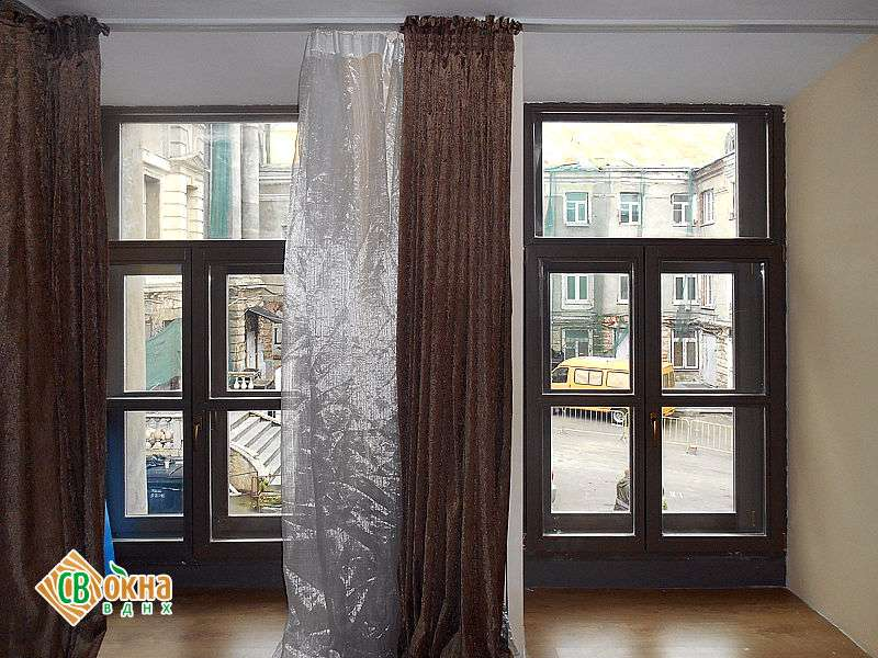 Дерево-алюминиевые окна из дерева сталинские дома