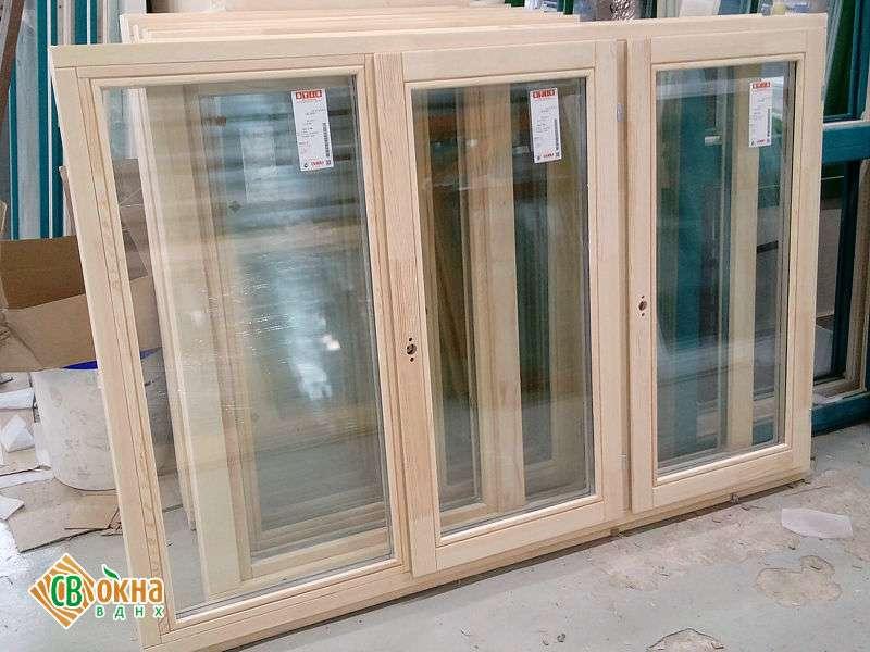 Дерево-алюминиевые окна из лиственницы в стандартные дома П-44Т