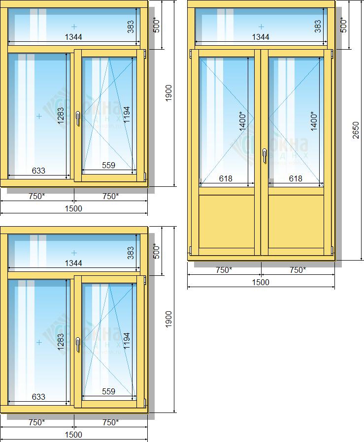 стандарты размеров окон и дверей